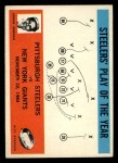 1965 Philadelphia #154  Pittsburgh Steelers  -  Buddy Parker Front Thumbnail