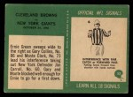 1966 Philadelphia #52  Browns Team  Back Thumbnail