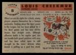 1956 Topps #8   Lou Creekmur Back Thumbnail