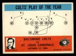 1965 Philadelphia #14  Colts' Play of the Year  -  Don Shula Front Thumbnail