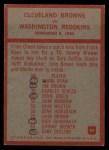 1965 Philadelphia #42  Cleveland Browns  -  Blanton Collier   Back Thumbnail