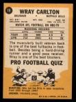 1967 Topps #19  Wray Carlton  Back Thumbnail