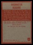 1965 Philadelphia #183  Redskins Team  Back Thumbnail