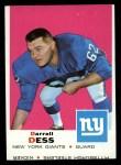1969 Topps #219  Darrell Dess  Front Thumbnail