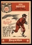1959 Topps #557  All-Star  -  Ken Boyer Back Thumbnail