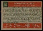 1959 Topps #166  Destruction Crew  -  Minnie Minoso / Rocky Colavito / Larry Doby Back Thumbnail