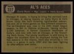 1961 Topps #337  Al's Aces  -  Al Lopez / Herb Score / Early Wynn Back Thumbnail