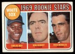 1969 Topps #654  White Sox Rookies    -  Carlos May / Rich Morales / Don Secrist Front Thumbnail