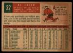 1959 Topps #22  Al Smith  Back Thumbnail