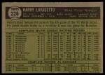 1961 Topps #226  Harry Lavagetto  Back Thumbnail