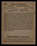 1939 Play Ball #141  Pete Coscarart  Back Thumbnail