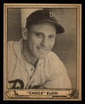 1940 Play Ball #102  Chuck Klein  Front Thumbnail