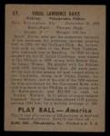 1939 Play Ball #37  Spud Davis  Back Thumbnail