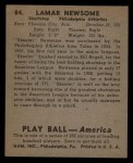 1939 Play Ball #84  Skeeter Newsome  Back Thumbnail
