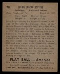 1939 Play Ball #78   Moose Solters Back Thumbnail