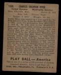 1939 Play Ball #100  Buddy Myer  Back Thumbnail