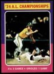 1975 Topps #459  1974 AL Championships  -  Brooks Robinson Front Thumbnail