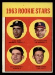 1963 Topps #169   -  Gaylord Perry / Tommie Sisk / Dick Egan / Julio Navarro Rookies Front Thumbnail
