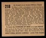 1938 Gum Inc. Horrors of War #218  An Assault on an Ancient Military Citadel  Back Thumbnail
