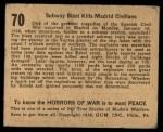 1938 Gum Inc. Horrors of War #70   Subway Blast Kills Madrid Civilians Back Thumbnail