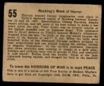 1938 Gum Inc. Horrors of War #55   Nanking's Week of Horror Back Thumbnail