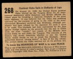 1938 Gum Inc. Horrors of War #268   Gunboat Oahu Sails in Defiance of Japs Back Thumbnail