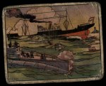 1938 Gum Inc. Horrors of War #92   Pirate Sub Torpedoes Dutch Freighter Front Thumbnail