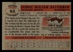 1956 Topps #93   George Ratterman Back Thumbnail