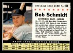 1961 Post Cereal #151   Bob Schmidt Front Thumbnail