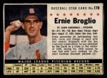 1961 Post Cereal #179 BOX  Ernie Broglio  Front Thumbnail