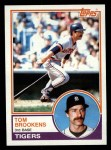 1983 Topps #119  Tom Brookens  Front Thumbnail