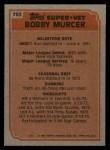 1983 Topps #783  Super Veteran  -  Bobby Murcer Back Thumbnail