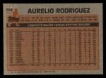 1983 Topps #758  Aurelio Rodriguez  Back Thumbnail