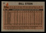 1983 Topps #64  Bill Stein  Back Thumbnail