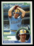 1983 Topps #142   Mike Caldwell Front Thumbnail