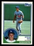 1983 Topps #245   Steve Sax Front Thumbnail