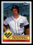 1983 Topps #4  Record Breaker  -  Lance Parrish Front Thumbnail