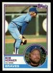 1983 Topps #50   Bob Horner Front Thumbnail