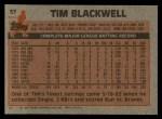 1983 Topps #57  Tim Blackwell  Back Thumbnail