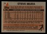 1983 Topps #24   Steve Mura Back Thumbnail