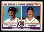 1983 Topps #261   -  Larry Herndon / Dan Petry Tigers Leaders Front Thumbnail