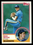 1983 Topps #209   Mike Moore Front Thumbnail