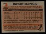 1983 Topps #244  Dwight Bernard  Back Thumbnail