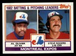 1983 Topps #111  Expos Leaders  -  Al Oliver / Steve Rogers Front Thumbnail
