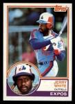 1983 Topps #214   Jerry White Front Thumbnail