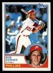 1983 Topps #43   Bob Dernier Front Thumbnail