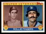 1983 Topps #36  Super Veteran  -  Rollie Fingers Front Thumbnail