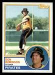 1983 Topps #44   Don Robinson Front Thumbnail
