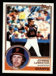 1983 Topps #154  Johnnie LeMaster  Front Thumbnail
