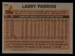 1983 Topps #776  Larry Parrish  Back Thumbnail